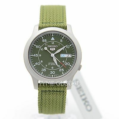 $ CDN136.84 • Buy Seiko 5 SNK805K2 Automatic Military Green Nylon Strap Analog Watch
