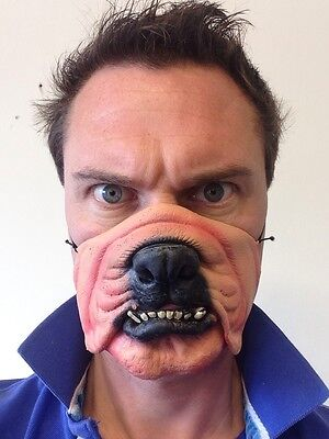 Dog Mask Funny Half Face Animal Bulldog Fancy Dress Party Masquerade • 5.97£