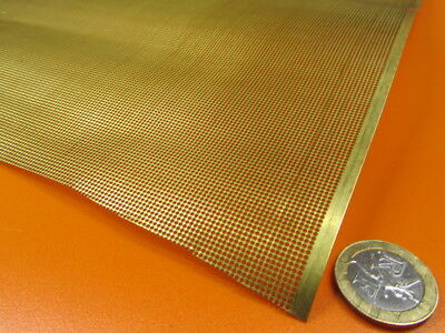 £54.69 • Buy Brass Perforated Extra Thin Sheet,  .016  Thick X 24  X Per Ft , .038  Hole Dia.