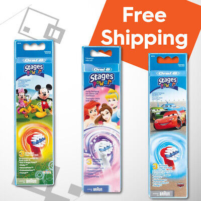 AU59.95 • Buy GENUINE (3xMickey 3xPrincess 3xCars) Oral-B Braun Kids Children Toothbrush Heads
