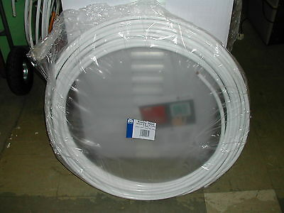 £149.99 • Buy 25m Coil 10mm Copper Pipe / Tube White Plastic Coated (Indicates Oil)