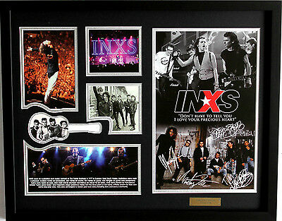 AU99.99 • Buy New INXS Signed Limited Edition Memorabilia Framed