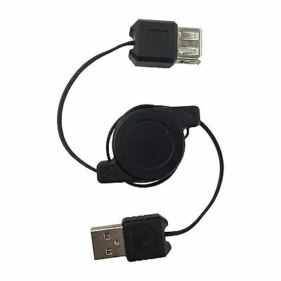 AU3.95 • Buy Retractable USB 2.0 Male To Female Extension Cable Type A Computer Cord