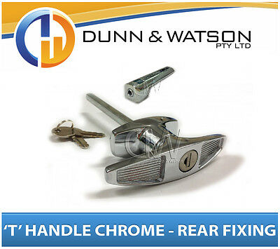 AU17.50 • Buy Chrome Plated Rear Fixing 'T' Lock / Handle (Trailer Caravan Canopy Toolbox) X1