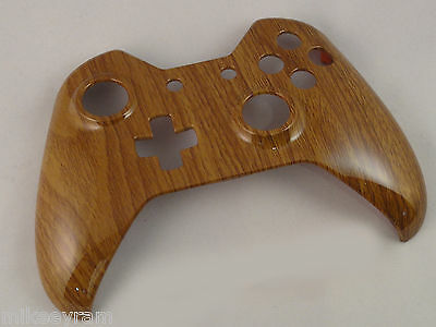 $13.99 • Buy Wooden Grain Hydro Dipped, Front Shell For Xbox One Controller - New