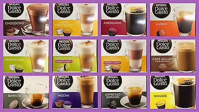 Nescafe Dolce Gusto Coffee Capsules - 3 Boxes Of 16 Pods - Select Your Flavour • 13.99£