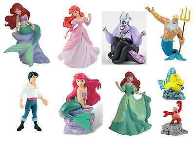 Official Bullyland Disney The Little Mermaid Figures Toys Cake Topper Toppers • 9.95£