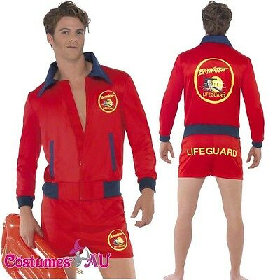 £22.98 • Buy Mens Baywatch Lifeguard Costume Short Jacket Licensed Beach Costume Outfit