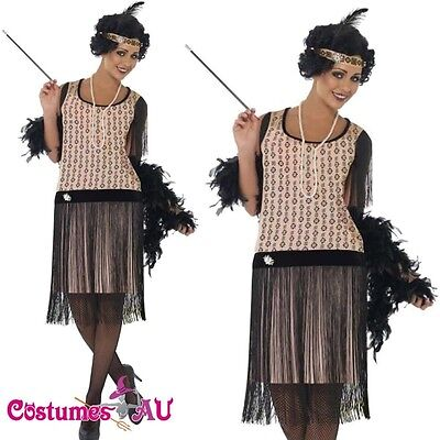 AU45.99 • Buy Ladies 1920s 20s Flapper Costume Ganster Charleston Gatsby Outfit Fancy Dress Up