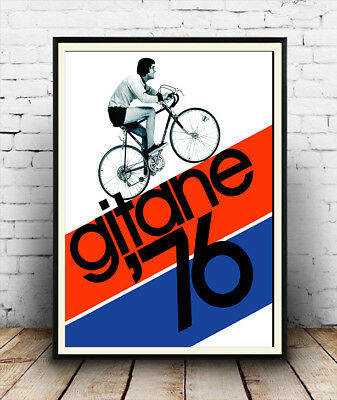 Gitane 76 , Vintage Cycling  Poster Reproduction • 3.99£