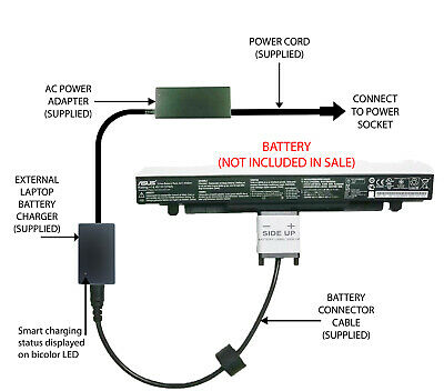 £52.98 • Buy External Laptop Battery Charger For ASUS P550CA X550CA X550LA X550LC, A41-X550A