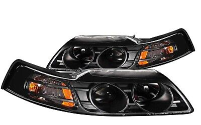 $208.35 • Buy Anzo 121042 Projector Headlights Black Clear Lens For 99-04 Ford Mustang