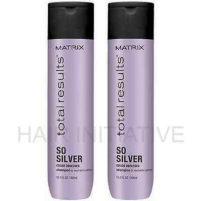 £17.99 • Buy Matrix NEW Total Results Color Obsessed So Silver Shampoo (2 X 300ml)