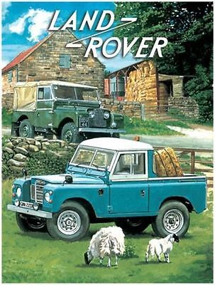 Land Rover, Off Road 4x4 Pickup Classic/Vintage Car Small Metal Tin Sign Picture • 5.18£