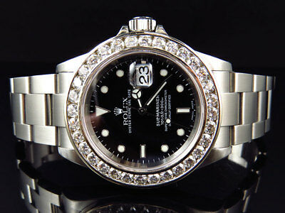 $ CDN16035.59 • Buy Excellent Mens Rolex Submariner 40MM Stainless Steel VS Diamond Watch 6.0 Ct