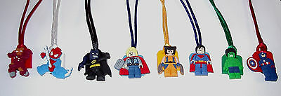 $9.99 • Buy 6 Super Heroes Avengers Lego Like Necklace Party Favors Prize Goody Bag Gift