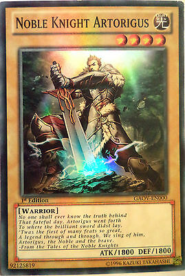 YUGIOH NOBLE KNIGHT ARTORIGUS GAOV-EN000 1st EDITION SUPER RARE • 1.69£
