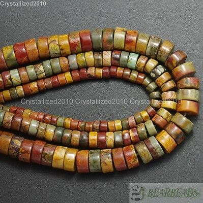 £3.10 • Buy Natural Colorful Picasso Jasper Gemstone Heishi Beads 2mm 3mm 4mm 6mm 8mm 16