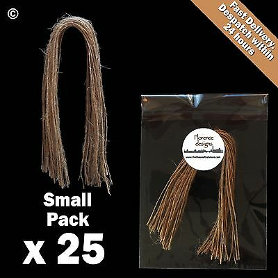 25 X Natural 1-Ply Rustic String/Twine/Hessian For Wedding/Gift/Crafts Hang Tags • 1.40£