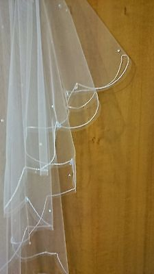 Wedding Bridal Veil IVORY. Made With Genuine Swarovski Crystals. Made In England • 41.94£
