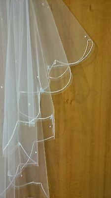 Wedding Veil Antique-White Made With Genuine Swarovski Crystals. Made In England • 47.47£