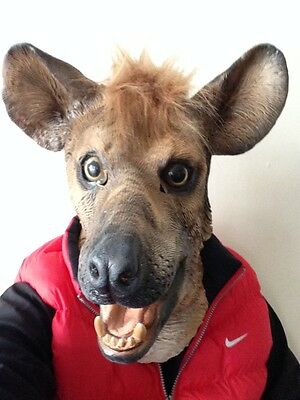 Hyena Animal Mask Wild Dog Overhead Latex Zoo Fancy Party Masquerade Movie • 14.97£