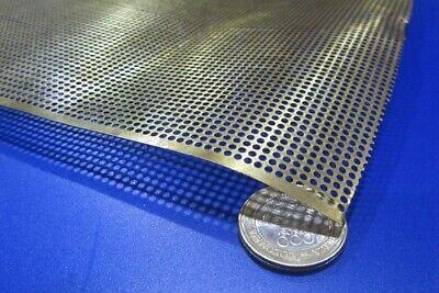 £47.84 • Buy Brass Perforated Extra Thin Sheet,  .016  Thick X 24  X Per Ft , .079  Hole Dia.