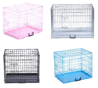 £29.99 • Buy Dog Cage Puppy Crates Small Medium Large Extra Large Pet Carrier Training Cages