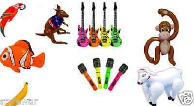 $3.10 • Buy Inflatable Blow Up Toys Banana Guitar Halloween Stag Hawaiian Fancy Dress Party