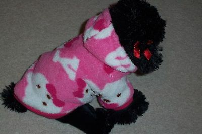 £5.99 • Buy Dog Puppy Hoodie Pink Teddy 100 % Cotton Super Soft And Warm Small, Medium Large