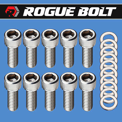 $12.95 • Buy Ford Fe Valve Cover Bolts Stainless Steel Kit 352 360 390 406 427 428 Engines