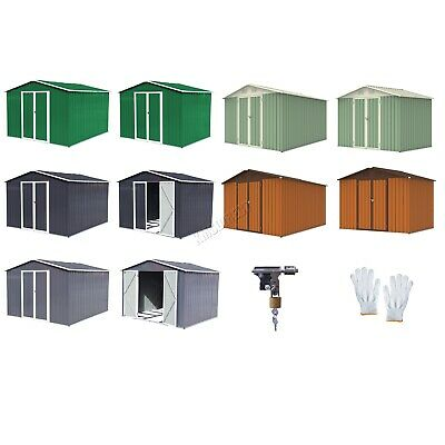 WestWood New Garden Shed Metal Apex Roof Outdoor Storage With Free Foundation • 219.99£