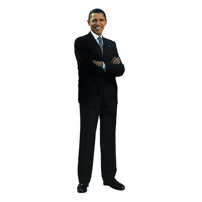 $39.95 • Buy BARACK OBAMA V2 President Lifesize CARDBOARD CUTOUT Standup Standee Poster