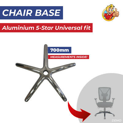 AU78.50 • Buy Chair Base Aluminium Polished Chrome 5 Star Office Executive Chairs Universal