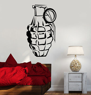 $29.99 • Buy Wall Vinyl Military Arms Grenade Guaranteed Quality Decal (z3485)