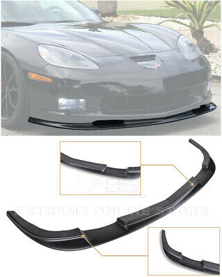 $164.99 • Buy For 05-13 Corvette C6 Z06 ZR1 Style Primer Black Front Bumper Lower Splitter Lip