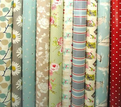 Clarke & Clarke PVC Fabric WIPE CLEAN Tablecloth Oilcloth All Designs And Sizes • 6.99£