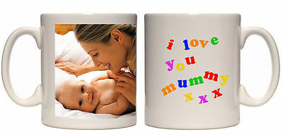 Christmas Gift I Love You Mummy Personalised Mug Custom Xmas Present Your Photo • 8.99£