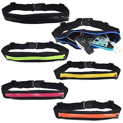 AU5.45 • Buy Waist Running Zip Belt Lycra Bum Bag Pocket Hiking Cycling Jogging Cycling Pouch