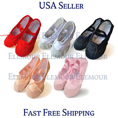 $5.99 • Buy Girls Womens Ballet Dance Shoes Fitness Gymnastics Shoes Canvas US Seller