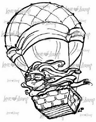 £8.49 • Buy LITTLE DARLINGS Rubber Stamps UP UP & AWAY LD3006 Hot Air Balloon