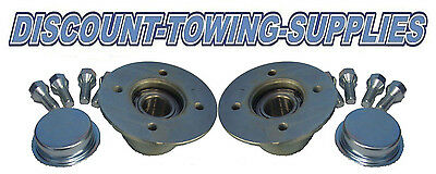 Fits Knott Style Trailer Hubs X2 Ifor Williams P5E P6E P7E P8E BV64e 4x100mm PCD • 64.95£