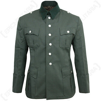 German Army Officers Gabardine Wool Tunic - WW2 Repro Heer Uniform Jacket New • 110.95£