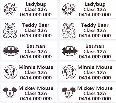 AU4.99 • Buy 16 IRON ON Personalised Name Stickers Tag / Label For Clothing, 4.6 X 1.5 CM