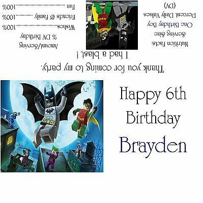 $8.50 • Buy Lego Batman Candy Bar Wrappers/Birthday Party Favors