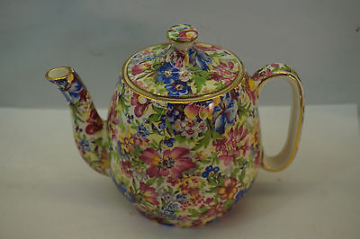 $ CDN249.95 • Buy VINTAGE ROYAL WINTON CHINTZ CHINA SUNSHINE PATTERN TEAPOT 4.25in GRIMWADES