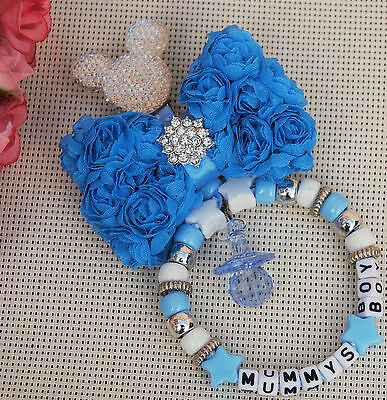 £6.99 • Buy Personalised Stunning Pram Charm In Blue For Baby Boys Ideal Gift