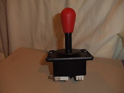 $8.79 • Buy Arcade 4/8 Way Joystick For Metal Or Wood Control Panel RED.