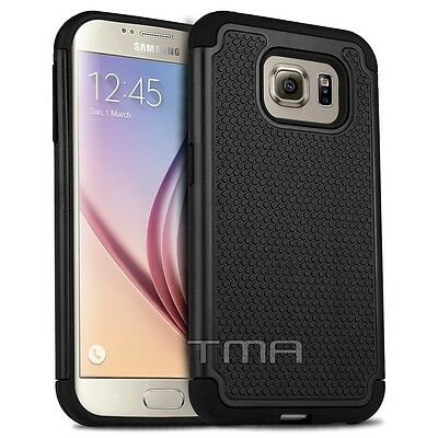 $ CDN6.79 • Buy Fits Samsung Galaxy S6 Case Shockproof Rugged Impact Hybrid Armor Cover - Black