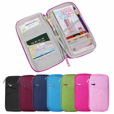 AU7.95 • Buy Large Travel Wallet Organizer Passport Credit Card Holder Cash Purse Case Bag